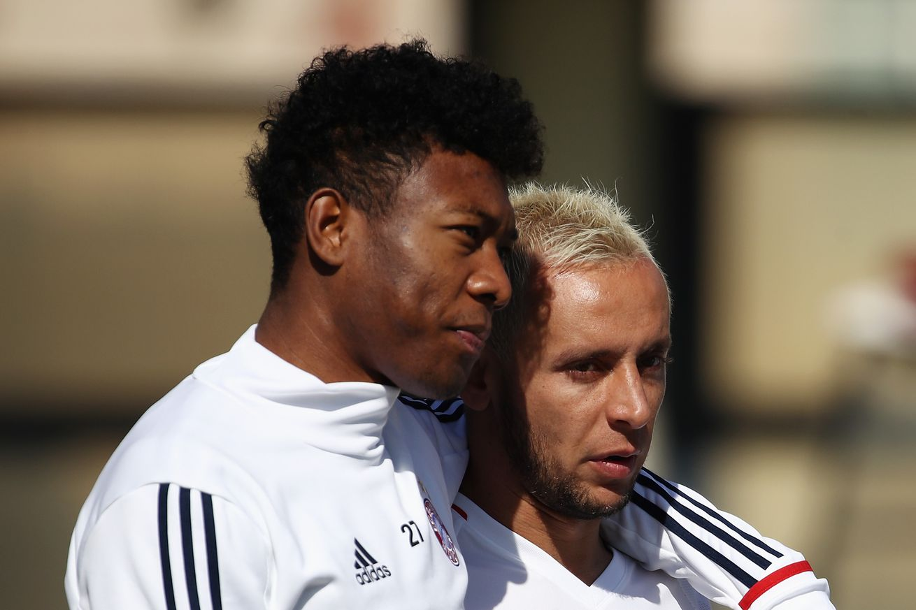 Bayern Munich is hopeful as David Alaba and Rafinha are back in training