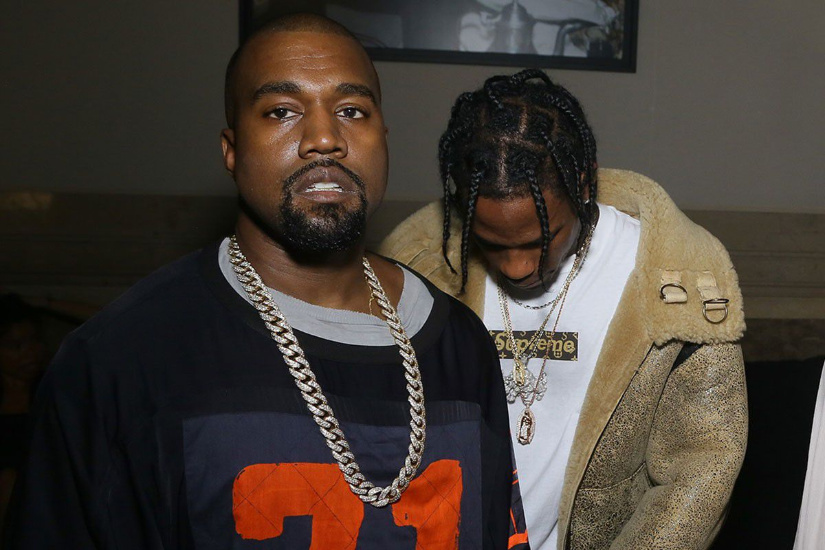 Kanye West and Travis Scott