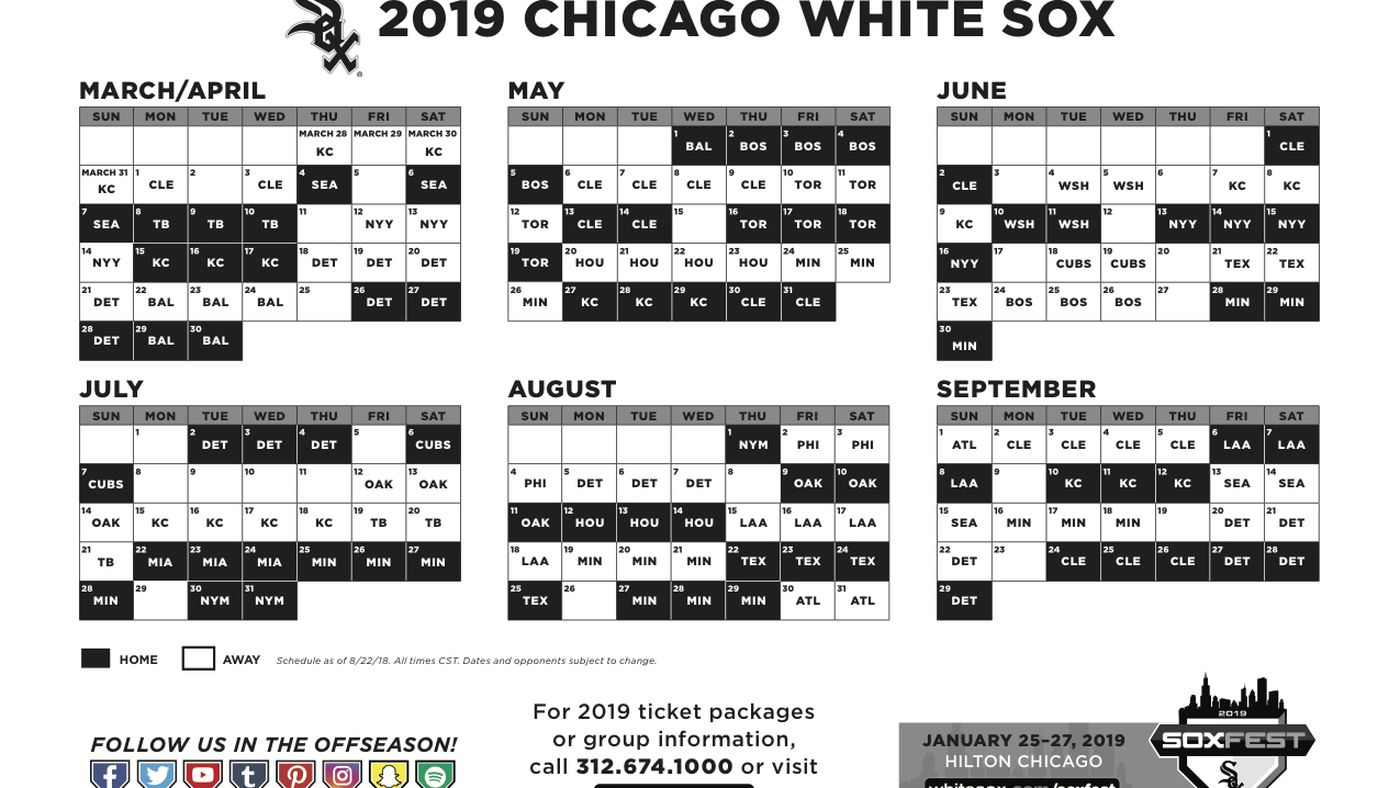 White Sox release 2019 schedule, with a home opener vs