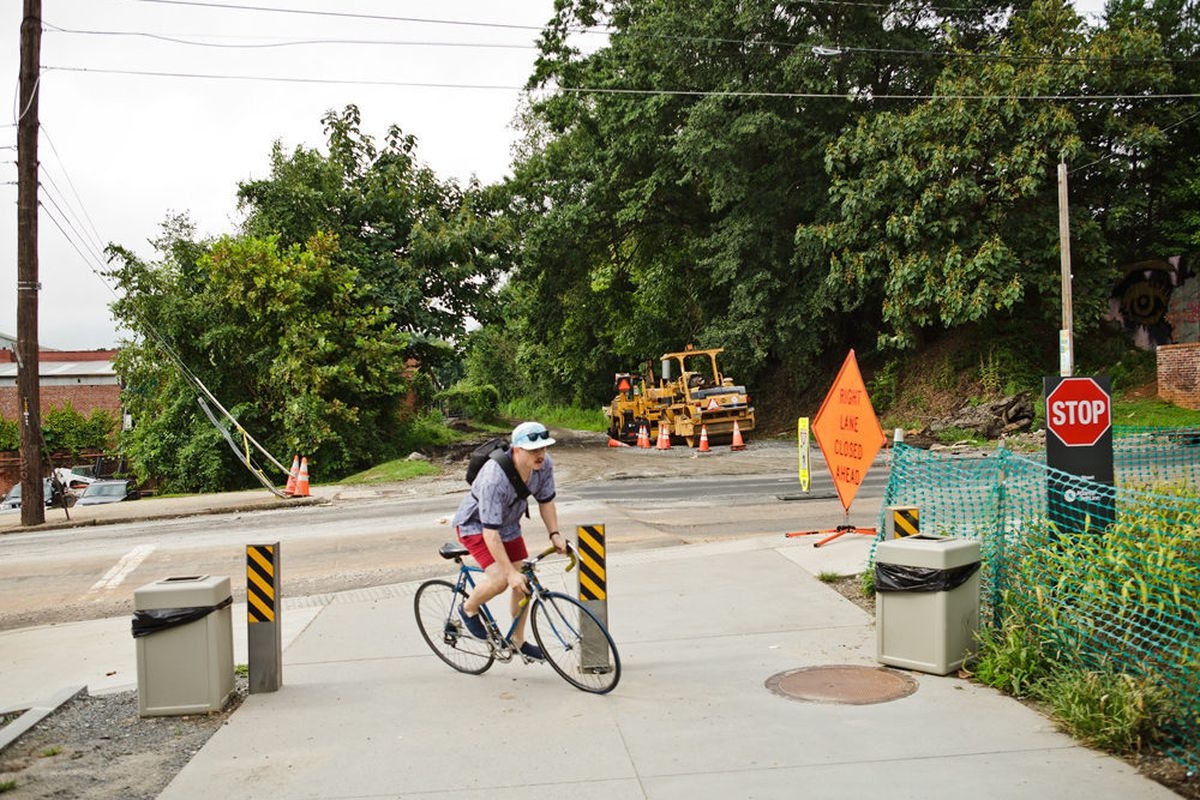 Currently the Eastside Trail of the Atlanta BeltLine has two miles of paved trail that ends at Irwin Street.