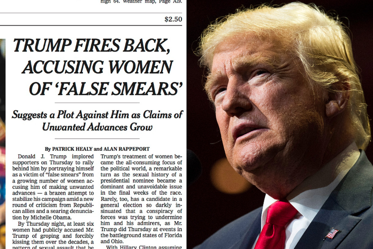 Trump and New York Times front page