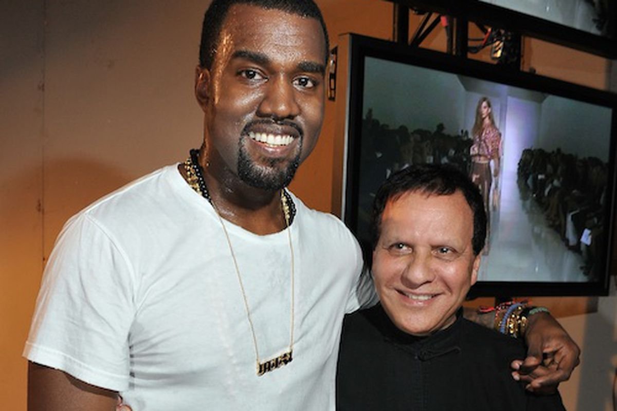 Kanye West with Azzedine Alaia (Getty Images)