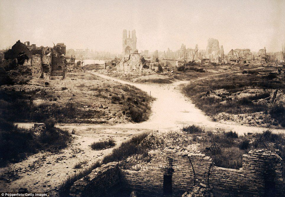 All along the length of the Western front villages and towns needed to be rebuilt after the fighting ended