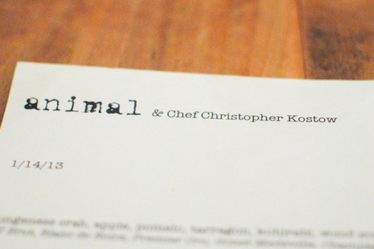 Christopher Kostow cooks at Animal, Mid-City.