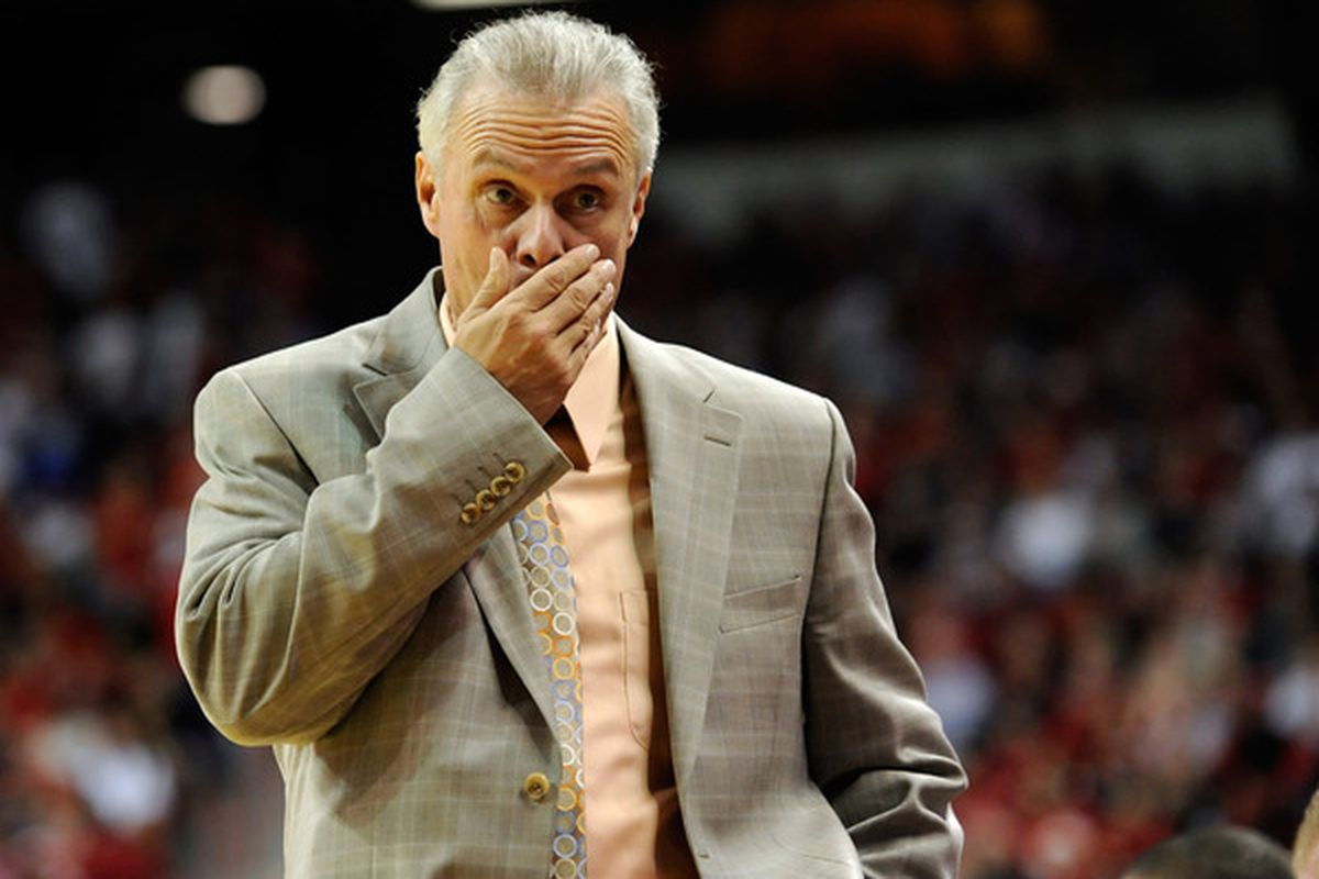 LAS VEGAS - NOVEMBER 20:  Head coach Bo Ryan of the Wisconsin Badgers paces the sideline during a game against the UNLV Rebels at the Thomas & Mack Center November 20 2010 in Las Vegas Nevada. UNLV won 68-65.  (Photo by Ethan Miller/Getty Images)