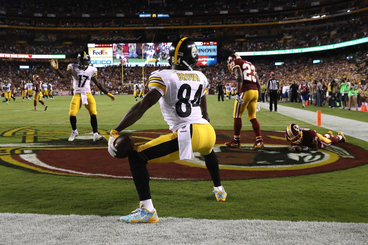 Report  Redskins showing big interest in trading for Steelers WR Antonio  Brown 07c538d87