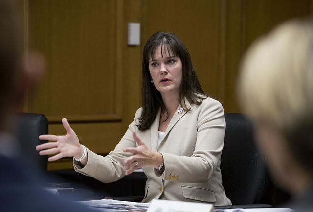 Tennessee Education Commissioner Candice McQueen has been under fire for her oversight of the state's standardized test, known as TNReady, which has had a string of high-profile problems since its 2016 rollout.