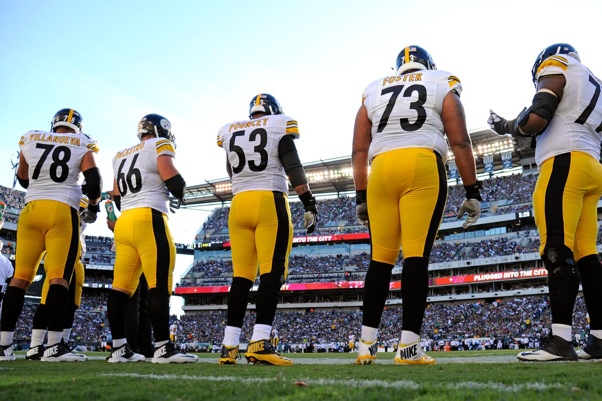 best loved eefaa b6325 Steelers offensive line stellar, but not without their ...