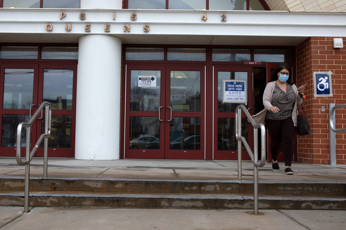 Far Rockaway residents vote in the City Council District 31 special election on Tuesday.