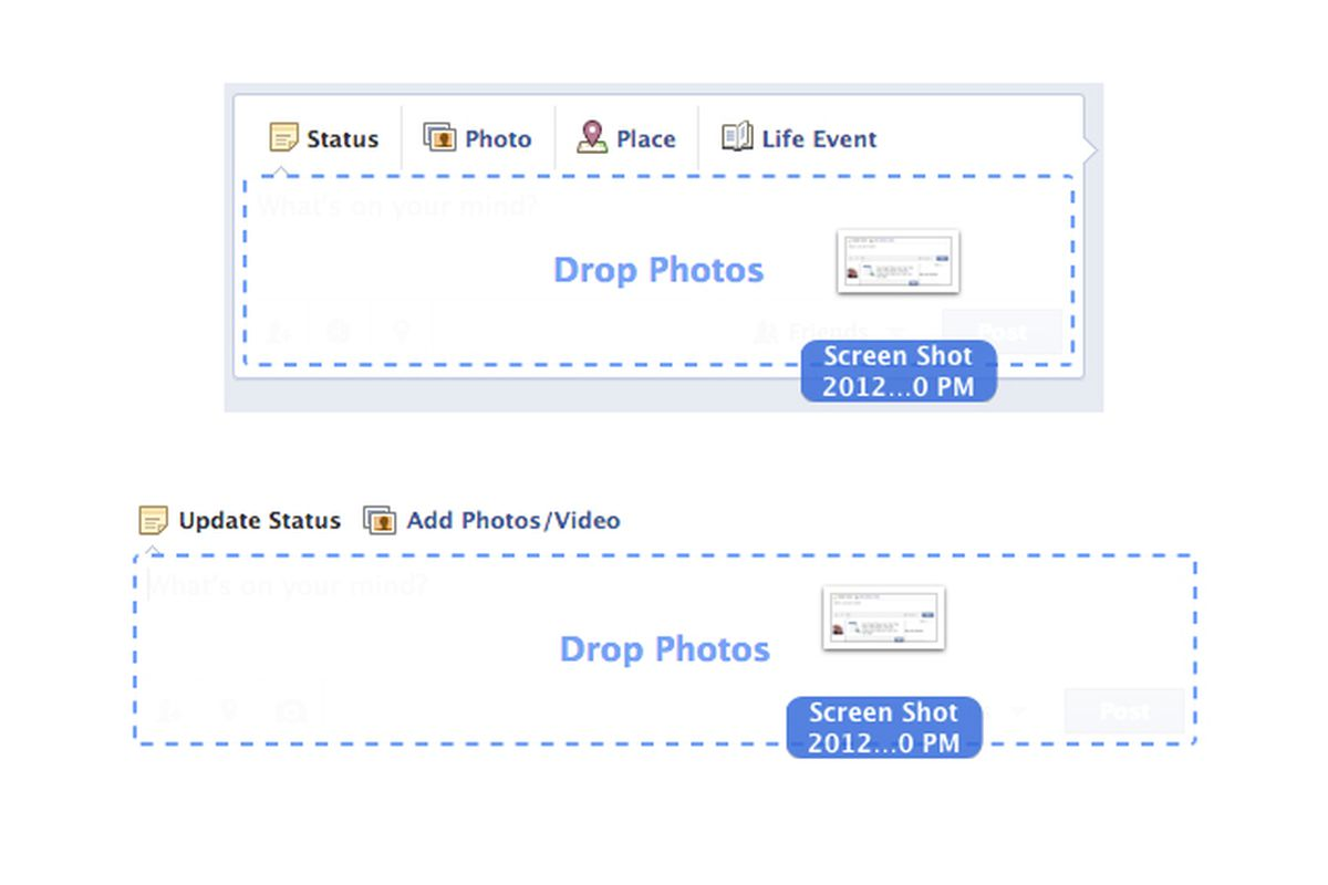 facebook drag drop photos