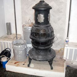The wood stove from the late 1800s.