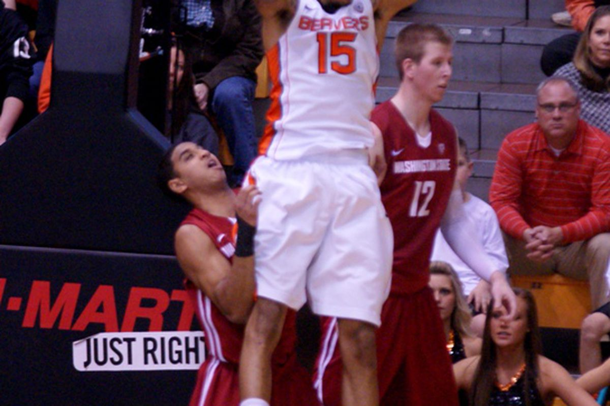 Eric Moreland returned to the starting lineup for Oregon St. against Washington St., and posted his 9th double double of the season. The Beavers could use another against Washington.