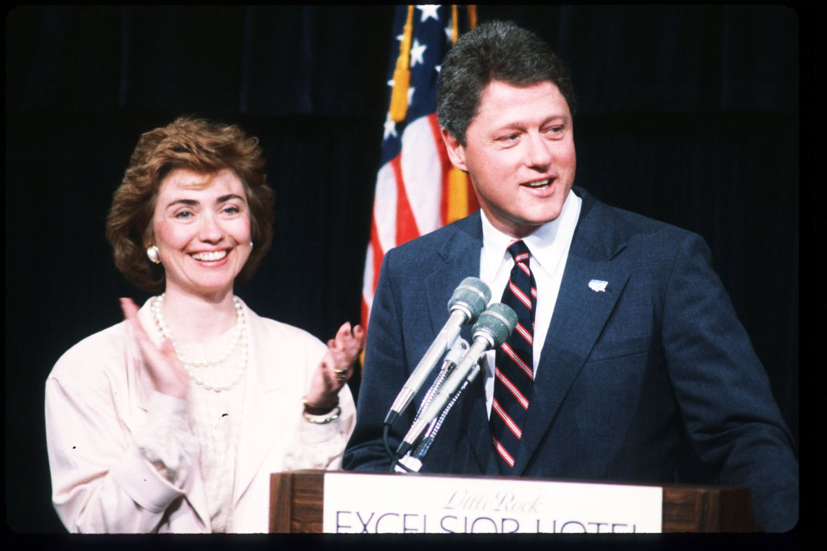 Hillary Rodham Clinton And Bill In 1987 John Sykes Liaison