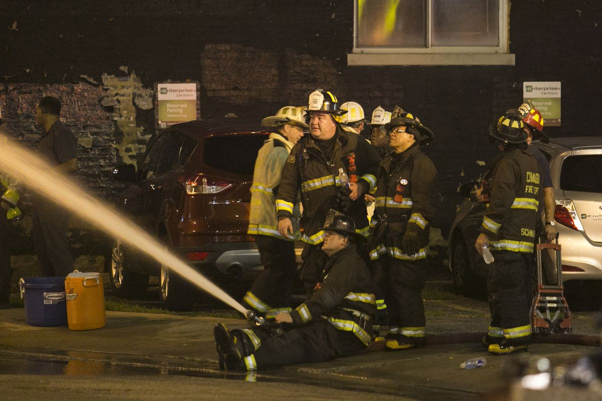 Firefighters's are allowed to exchange equipment that is damaged in the line of duty, but not if it is damaged due to employee negligence. | Sun-Times file photo