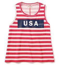 "<b>Textile Elizabeth and James</b> Striped USA Dean Tank, <a href=""http://www.shopbop.com/dean-tank-textile-elizabeth-james/vp/v=1/1517381021.htm?folderID=13107&fm=other-shopbysize&colorId=69481"">$92</a> at Shopbop"