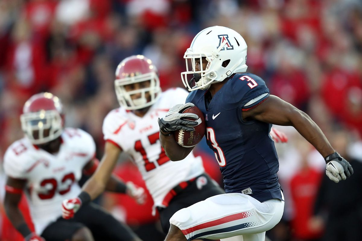 Daniel Jenkins and the other Arizona running backs looked very impressive at the Wildcats first scrimmage on Saturday