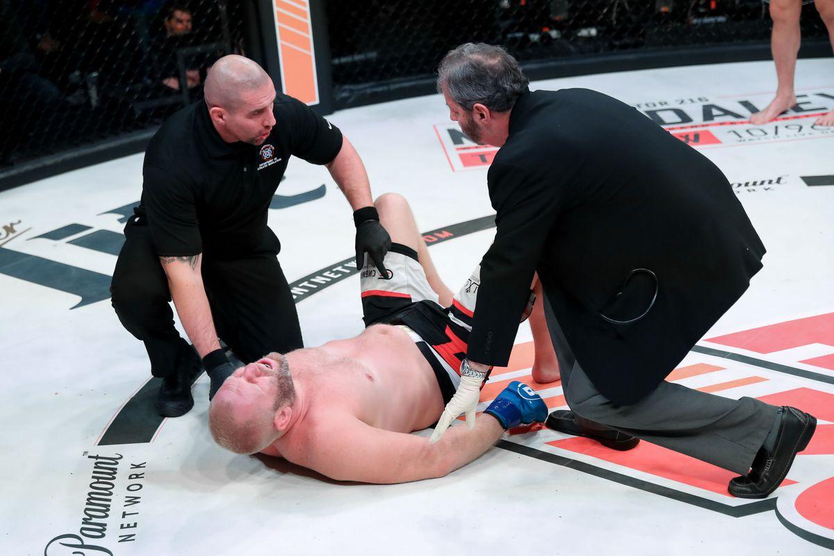 Report: Sergei Kharitonov has a hemorrhoid as a result of Matt Mitrione groin kick at Bellator 215
