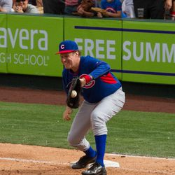 Will Ferrell at first base -