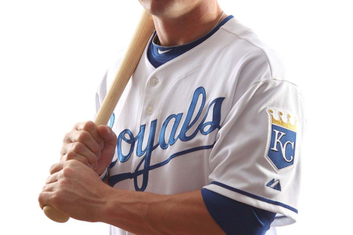 SURPRISE AZ - FEBRUARY 23:  Johnny Giavotella #73 of the Kansas City Royals poses for a portrait on February 23 2011 at Suprise Stadium in Surprise Arizona..  (Photo by Jonathan Ferrey/Getty Images)