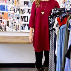 <b>Linnea Michaelsen</b>, Director of Design, wearing a BB Dakota dress from LeTote, Frye carson boots, and a Madewell necklace.<br><br> <b>Your closet is on fire! What three items do you save from the flames?</b><br>  My closet in in major need of an o