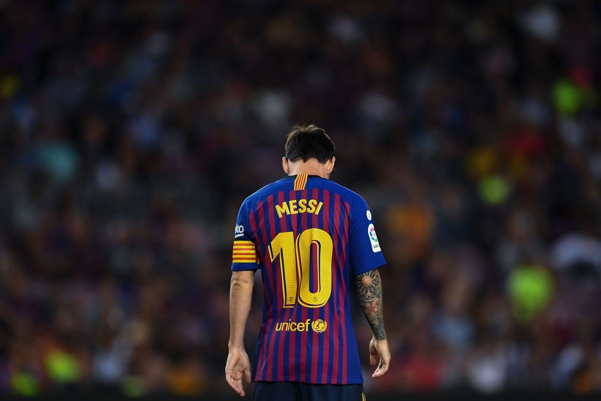 Barcelona show off lionel messis new look ahead of girona clash photo by david ramosgetty images stopboris Image collections