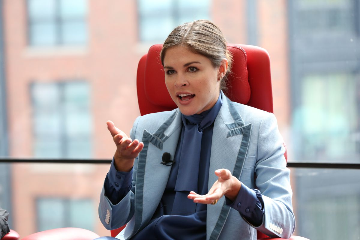 Glossier CEO Emily Weiss onstage at Code Commerce