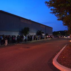 This was the line at 5am Thursday morning.