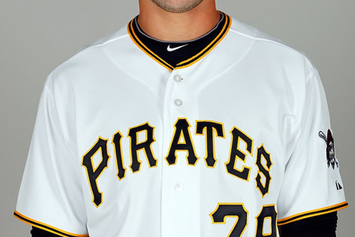 BRADENTON FL - FEBRUARY 20:  Infielder Chase d'Arnaud #79 of the Pittsburgh Pirates poses for a photo during photo day at Pirate City on February 20 2011 in Bradenton Florida.  (Photo by J. Meric/Getty Images)