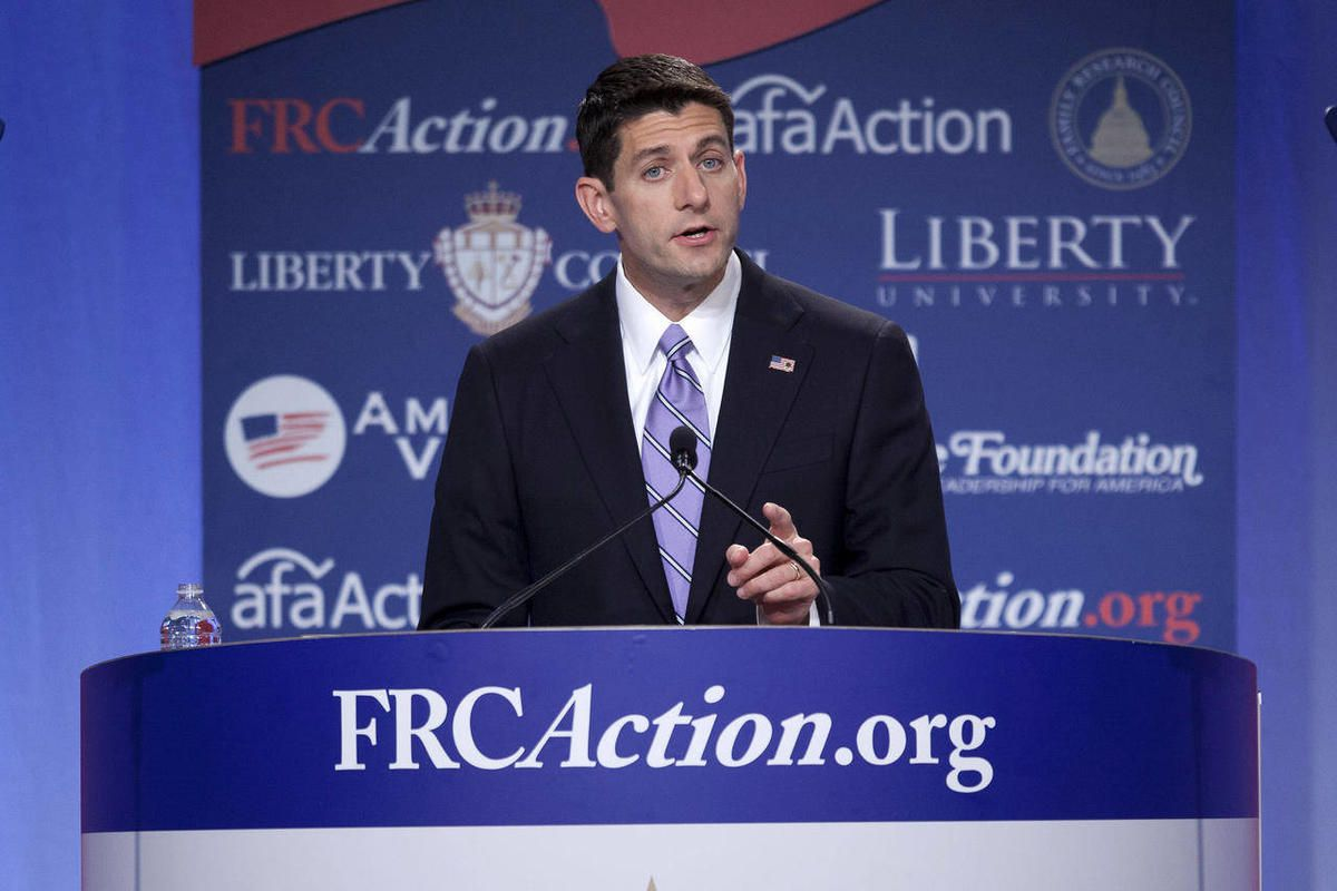 Republican vice presidential candidate, Rep. Paul Ryan, R- Wis. speaks at the Values Voters Summit in Washington, Friday, Sept. 14, 2012.