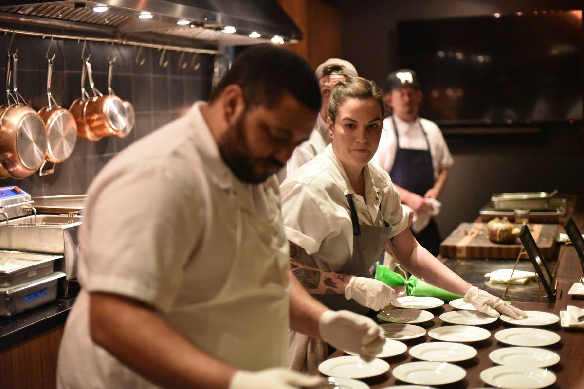 Pacific Food Beverage employees prepare food