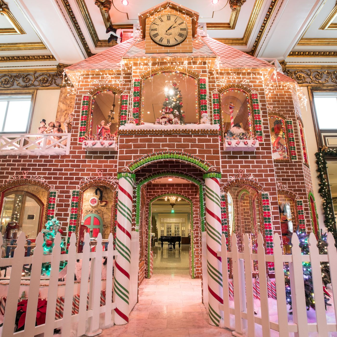 The Fairmont's two-story gingerbread Victorian sweetens the