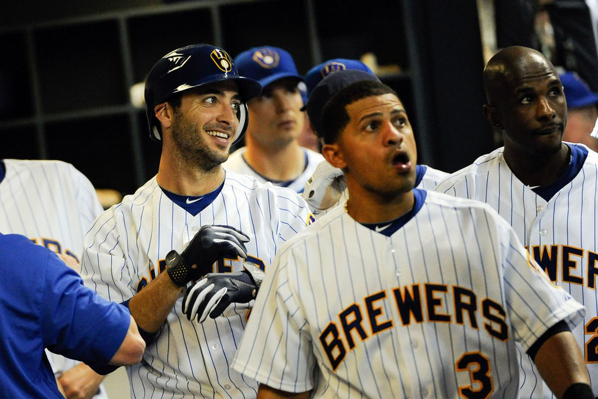 Ryan Braun appears to be the only happy person in this picture.