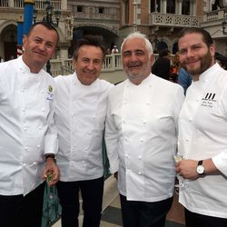 Olivier Dubreuil, Daniel Boulud, Guy Savoy and Julien Asseo