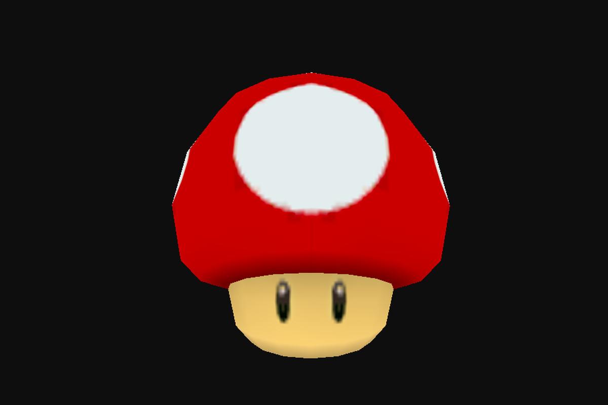 Kinoko mushroom in Super Mario Galaxy.