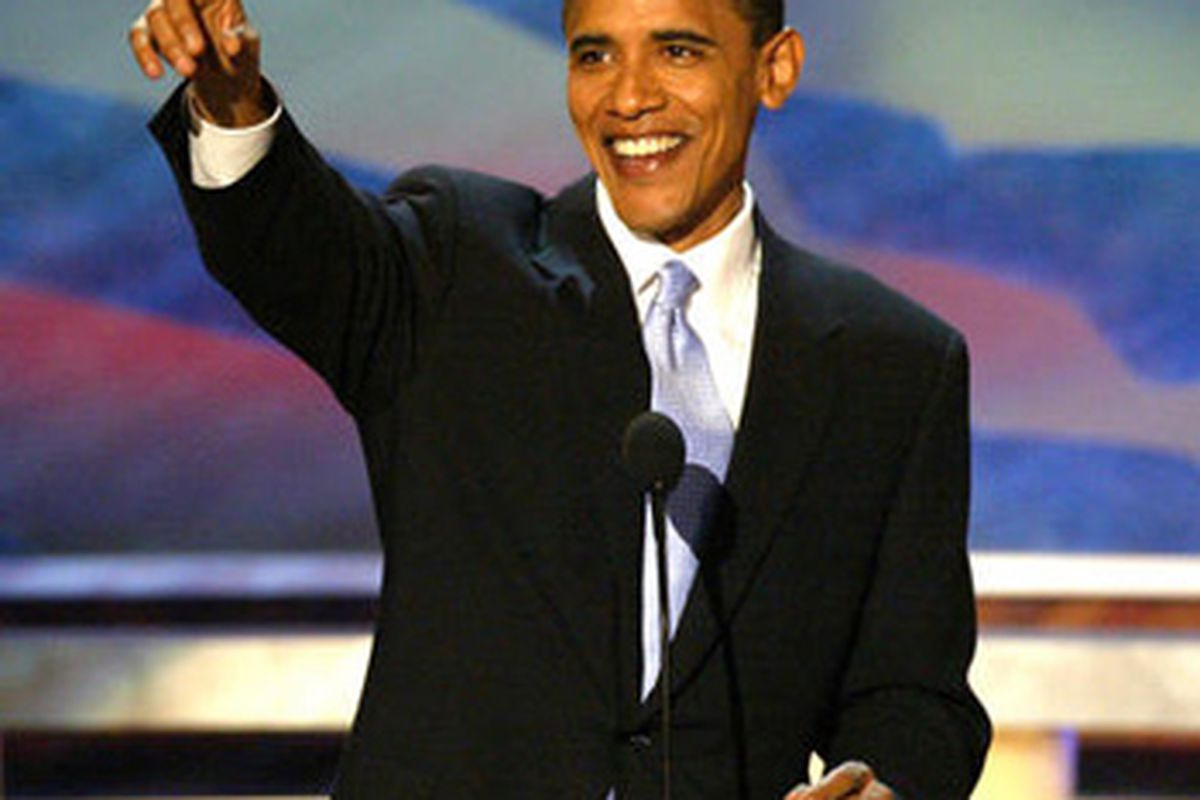 """President Obama, or """"Barry"""" to his usual foursome, encourages you to do your patriotic duty on April 22nd."""
