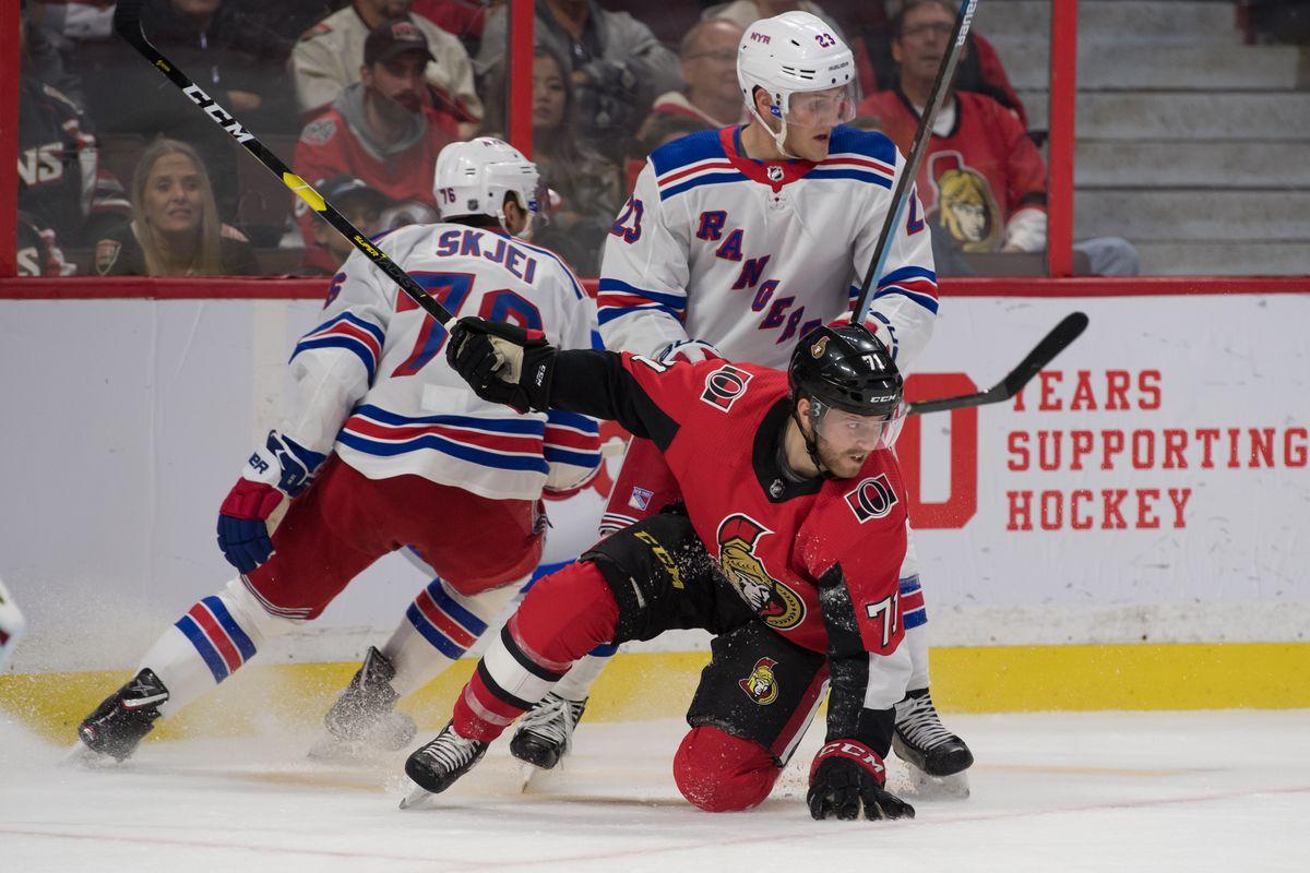 NHL: New York Rangers at Ottawa Senators