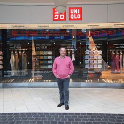 Lawrence Meyer, CEO of UNIQLO USA, outside Uniqlo's soon-to-open flagship within the King of Prussia Mall.