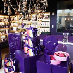 """Dubbed the """"Purple House,"""" this gorgeously decked Vosges Haut-Chocolat boutique offers luxury goodies from the local company. You can score everything from caramels to baking mixes and Mexican chocolates spiced up with chili. Chicago loves its Vosges: the"""