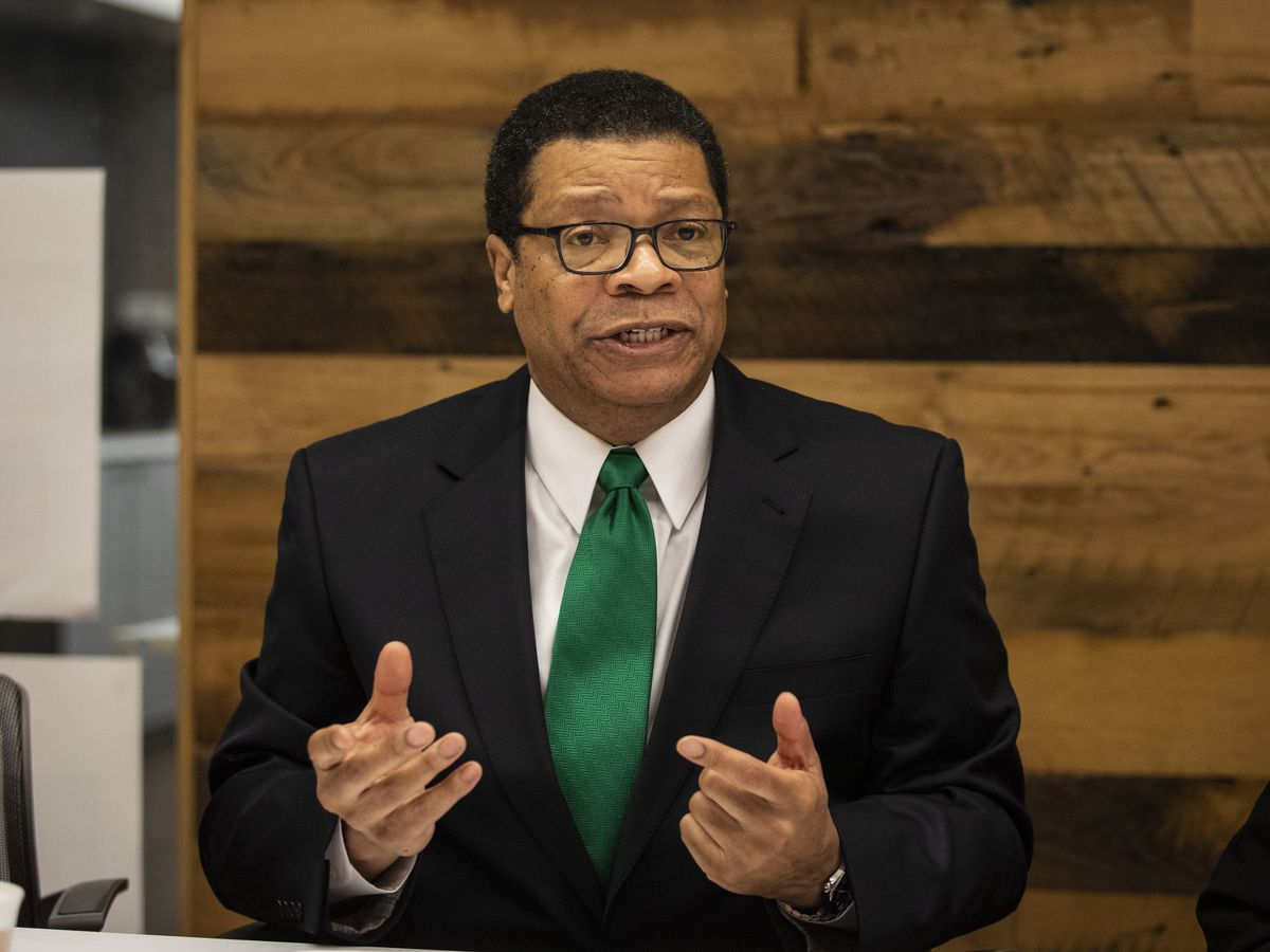 Nathaniel Roosevelt Howse Jr. meets with the Editorial Board. File Photo.