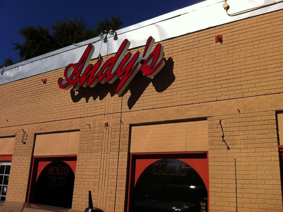 Andy's Cafe in the Heights, on Lyle's list of favorite Houston restaurants.