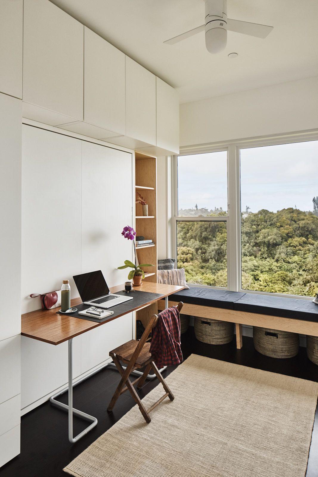 Interior room with desk