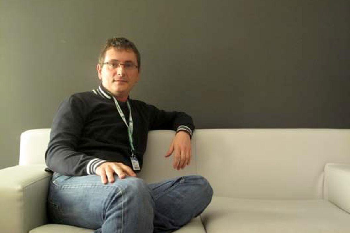 Andoni Aduriz poses as an analysand in San Sebastian.