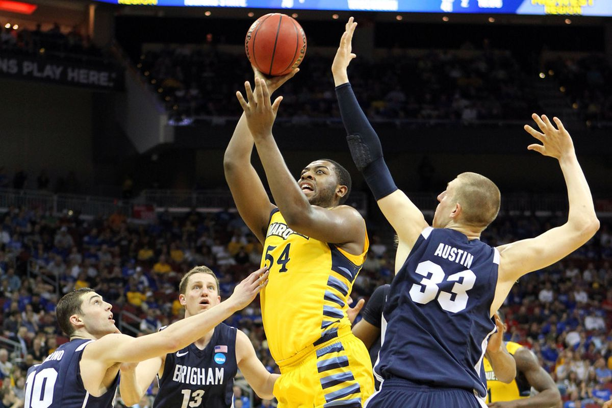 Marquette faced off in the first round of last year's tournament against BYU.