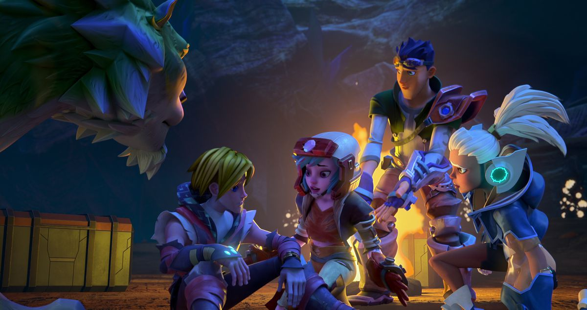 Prince Adam, Klinger, Klass, Duncan, and Tyra conducted a quiet night consultation in Seaman and the Lord of the Universe