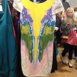 <b>Tibi</b> printed short sleeve dress, $83 (from $378)