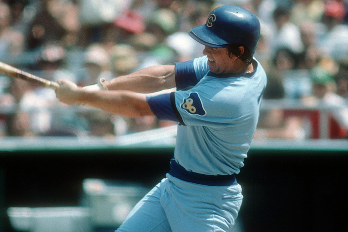 Bobby Murcer of the Chicago Cubs bats during a Major League Baseball game. (Photo by Focus on Sport/Getty Images)
