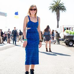 Why we love her look: the cutout dress + amazing booties