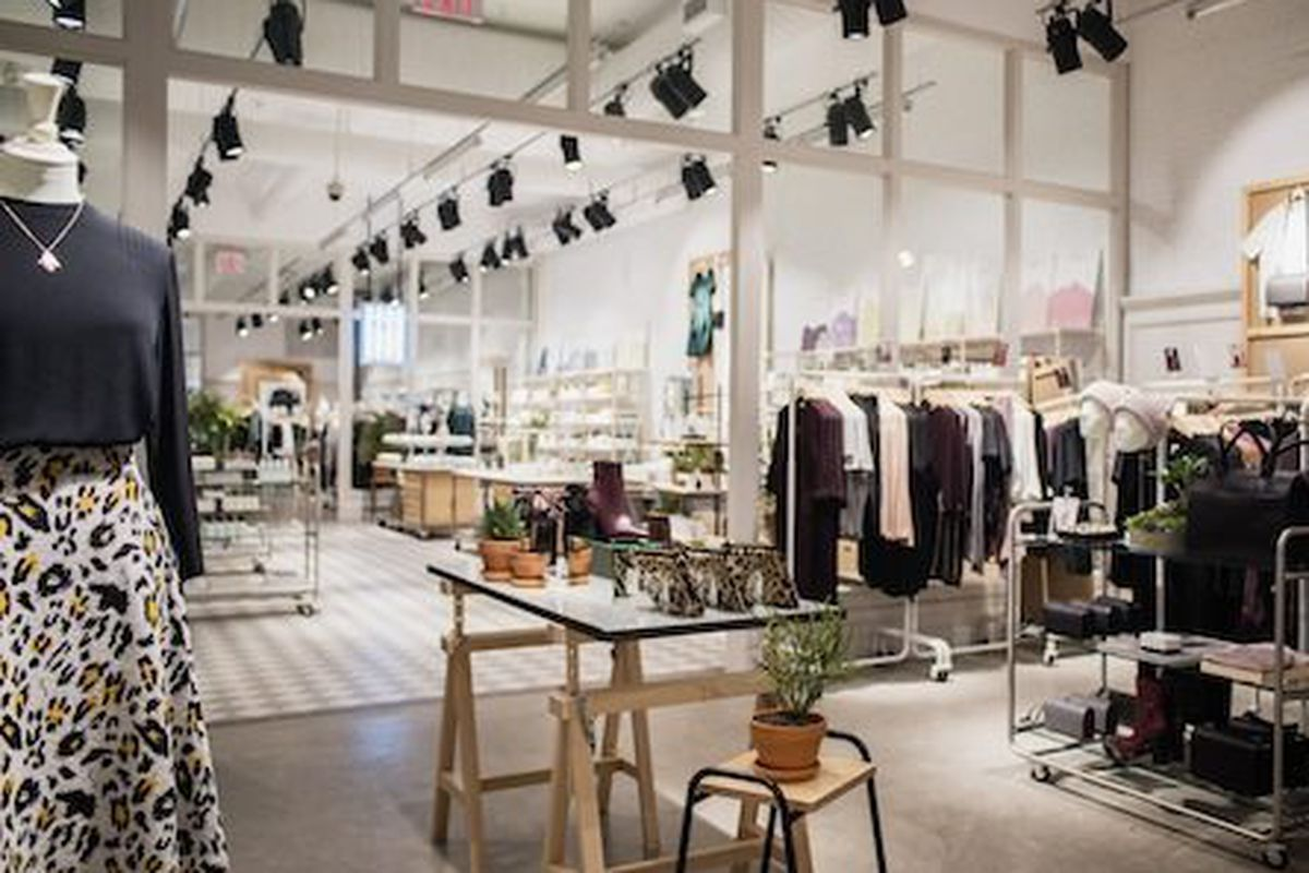 """& Other Stories's <a href=""""http://ny.racked.com/2014/10/17/7572677/other-stories-nyc-1"""" target=""""new"""">SoHo</a> store."""