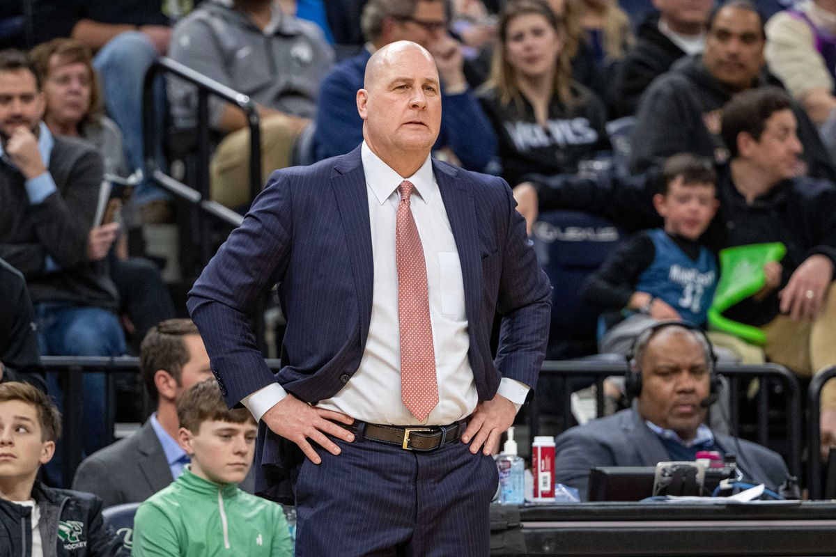 Chicago Bulls head coach Jim Boylen looks on during the second half against the Minnesota Timberwolves at Target Center.