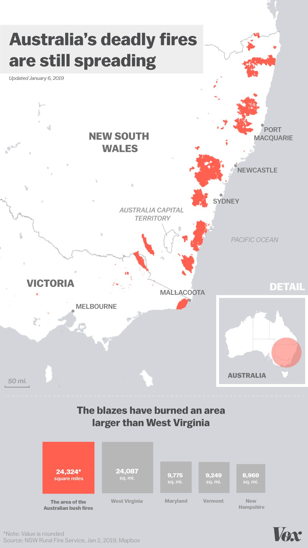Australia Fires 2019 Map Where They Re Currently Burning